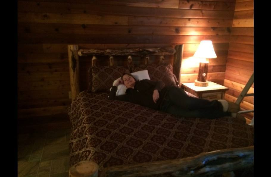 Our guest loved the warmth of the log room