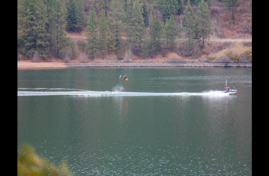 Water Skiing in protected Powderhorn Bay, its the best on the lake!